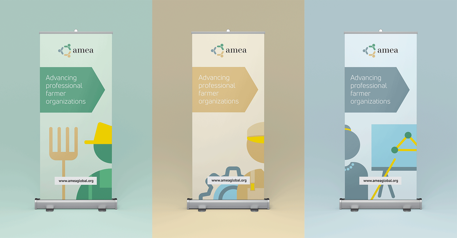 AMEA pull up banners - branding